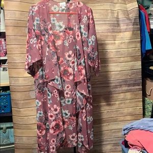 LuLaRoe Cardigan mauve floral New without tag